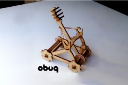 Laser cut catapult
