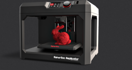 Makerbot Style (Type of 3D printing - FDM) 		Materials available: ABS, PLA, Carbon Fiber, high-temp